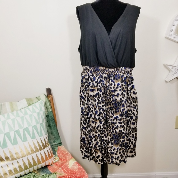 63322eae895 Torrid Dress Size 2 2XL Black Animal Cheetah Print